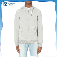 wholesale men high visibility hooded sweatshirt with front pouch pocket
