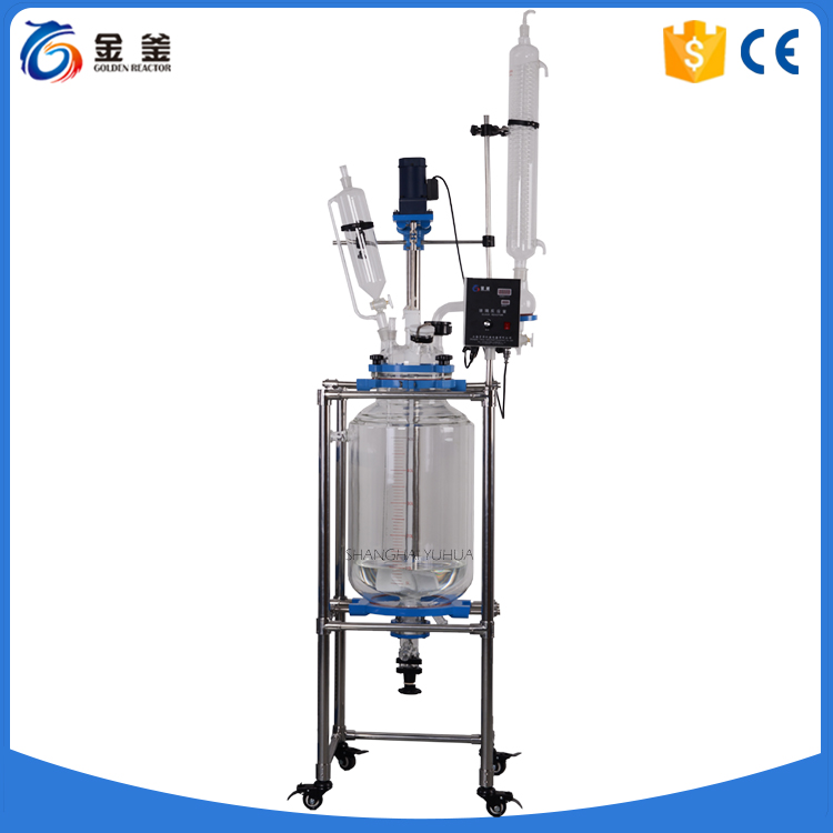 High Borosilicate Glass Fractional Distillation Unit with Discharge Valve