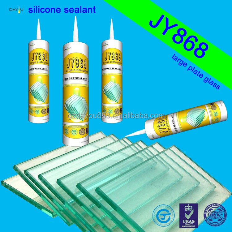 JY868 Best Selling Quick Dry Multiple Usage Acetic Silicone Sealant for big giass piate