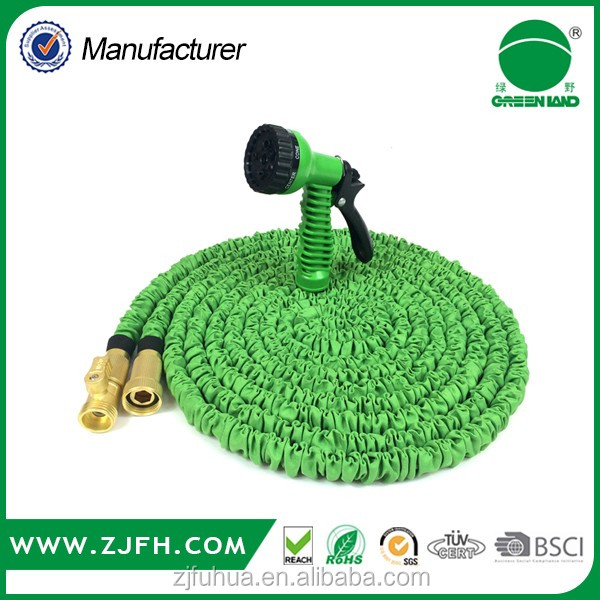 home & garden 25FT/50FT/75FT/100FT magic expandable water garden hose with brass fittings