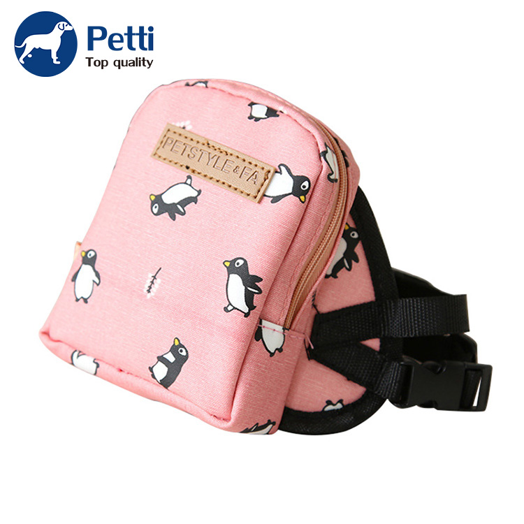 Wholesale Cute Dog Backpack Nylon Pink Small Dog Self Carry Bag