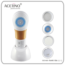 acne cleansing facial care exfoliating 4-in-1 spa brush anti-aging silicone facial brush for wholesales