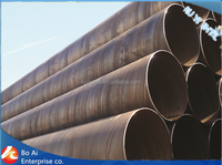 Contruction Materials/ DIN EN API 5L SSAW/HSAW High Strength Spiral Welded Steel Pipe/Tube for Oil and Gas
