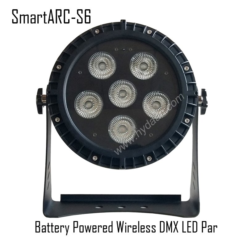 Waterproof IP65 Battery Powered Wireless DMX LED Par with App IR Control