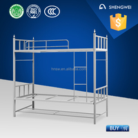 Safe and durable kids double deck steel bunk bed