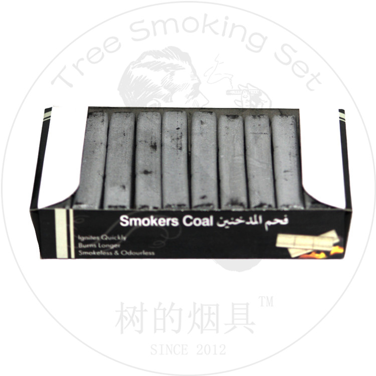TTAN0054 smoker coal shisha charcoal 30pcs sell India hot dark Arabian Shisha charcoal