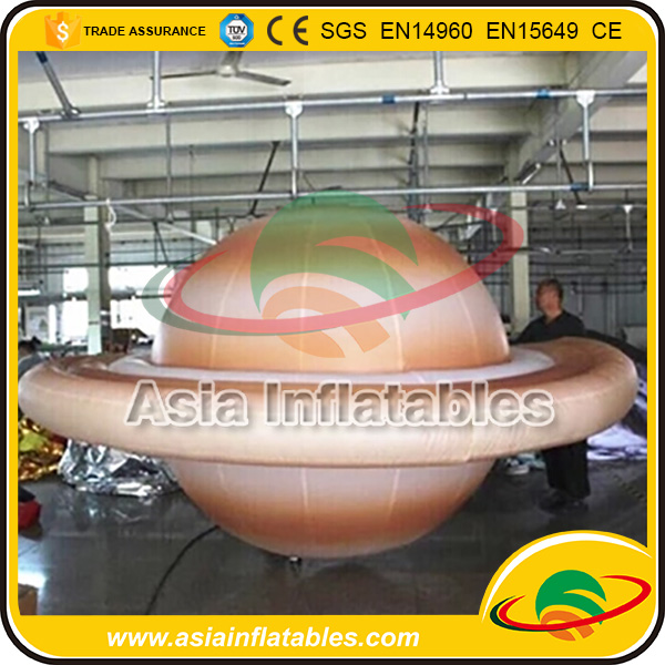Inflatable Saturn Balloon for Advertising / Hanging Lighting Planet Balloon / Llighting Balloon Inflatable Saturn Sphere Planet