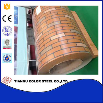 brick grain color coated steel coil for wall cladding metal roof/hot rolled PPGI steel sheet