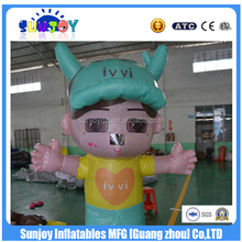 SUNJOY 2016 hot sale inflatable cartoon , inflatable cartoon characters, naked girl cartoon characters for sale