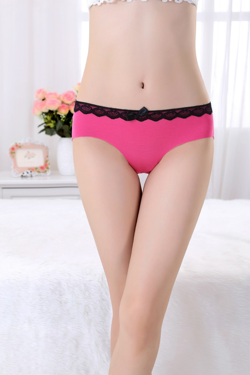 Hottest Young Girls Plain Models Panty Women Sexy Bottom Underwear