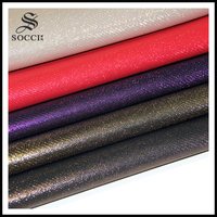 Decorated PU Leather Fabric Textiles Amp