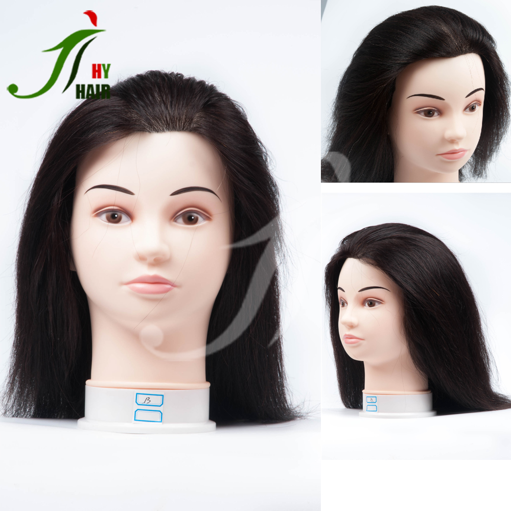 SALON Hairdressing Training Mannequin Heads With 100% Human Hair Training Doll Head for Hairdressers
