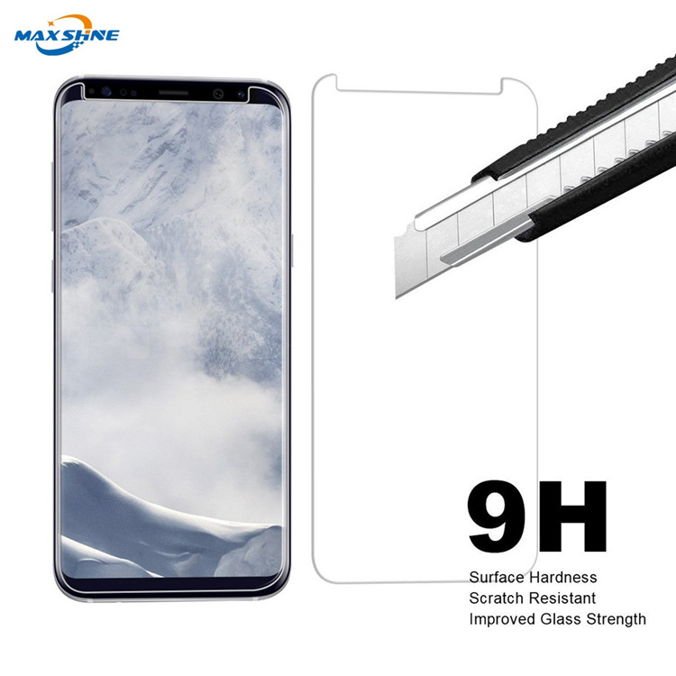 Maxshine Full Screen Coverage Screen Protector 3D Curved Tempered Glass For Samsung S9/S9 Plus