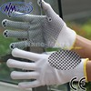 NMSAFETY 7 gauge bleached cotton glove inners work gloves with pvc dots