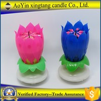 flower shaped birthday candle