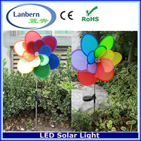 2016 white LED outdoor yard Lawn Rechargeable Solar Garden decoration Windmill JD-601A