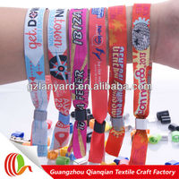 Hot sale fabric colorful friendship neoprene wristband