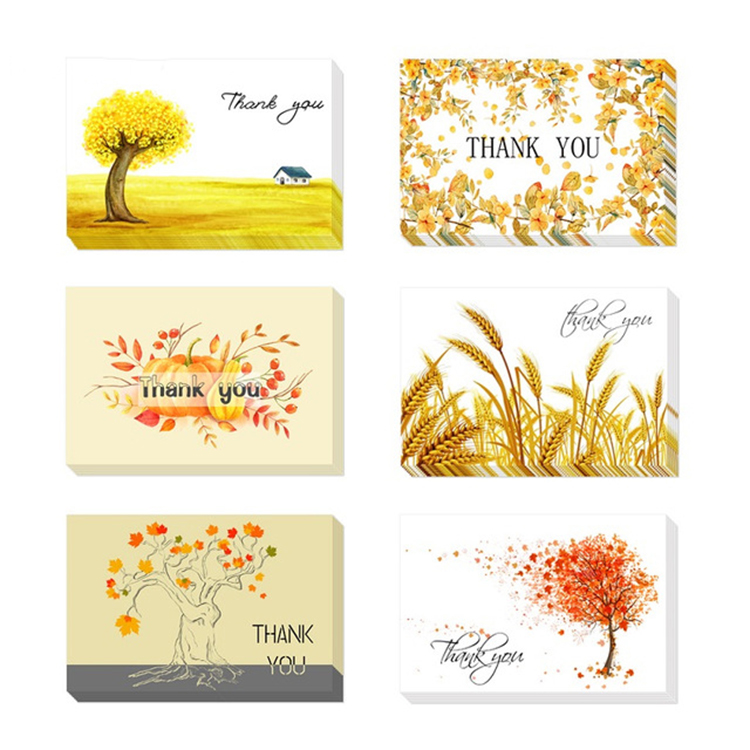 Eco-friendly unique wedding cards invitation wedding thank you cards with envelopes