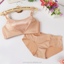 anti exposure breathable l bra set /zqin shiny seamless sexy bra and panties set/ top quality women bra set