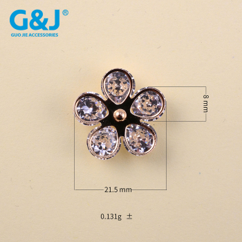 sun's paw with zircon stone buckle for shoes