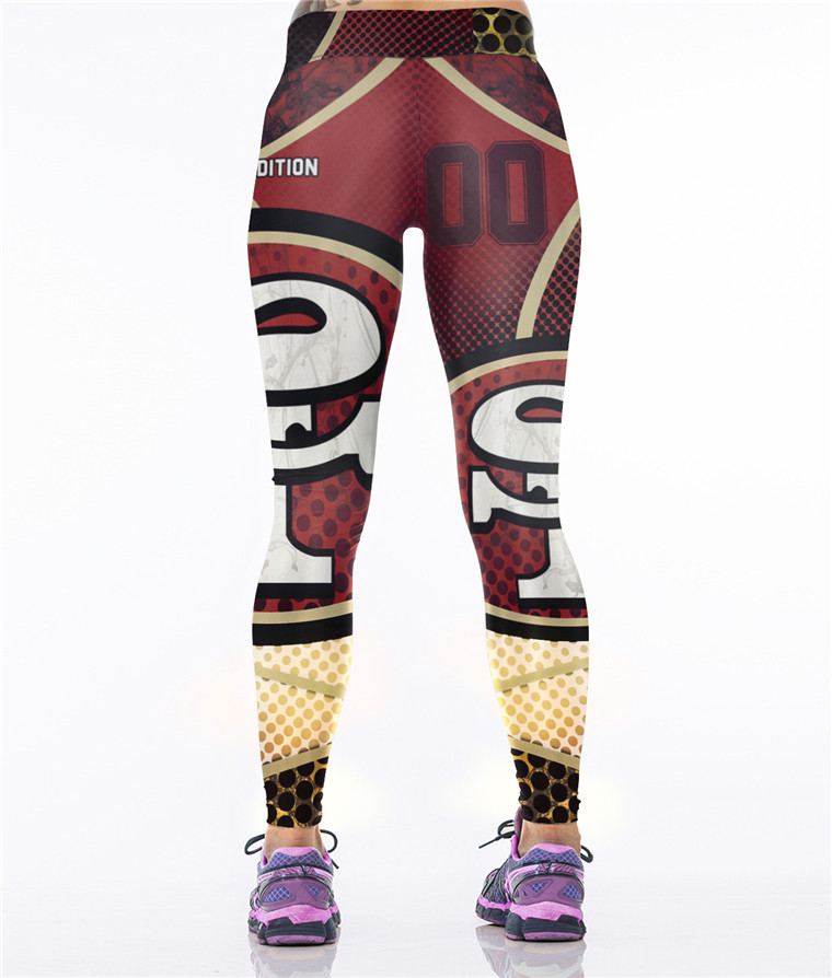 Wholesale Sexy Gym Fitness Custom Printing Sport Women Leggings Yoga Pants