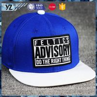 Factory sale long lasting adjustable hats flat brim snapback hat for wholesale