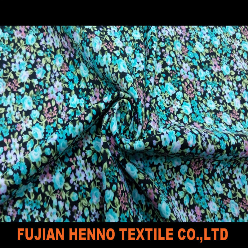 Floral printed nylon spandex warp knitted swimwear fabric