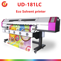 UD-1812LC galaxy cmyk digital color Inkjet flex banner printing machine 4 5 6 7 8 10 feet large format printing machine price