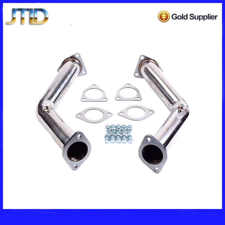 "For VW Golf GTi Jetta Audi A3 exhaust manifold New High quality 3""Turbo Catless Downpipe Exhaust 2.0T Decat exhaust pipe"