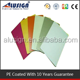 Alusign pantone color unbreakable PE coating interior wall cladding acp/acm panel