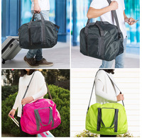 travel foldable storage bag multifunction tote bag 4 colors