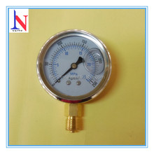 "2.5"" stainless steel liquid filled Mpa hydraulic pressure gauge"
