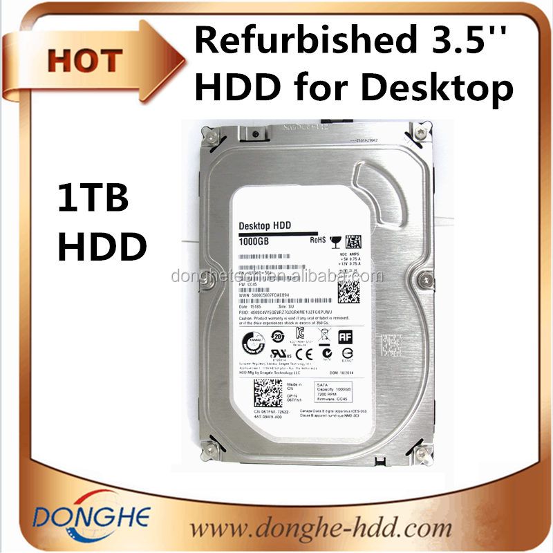 [second hand hdd!!] cheap desktop used hdd 1tb / wholesale refurbished 3.5 sata hard drives