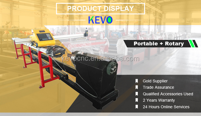 China JNKEVO 1530 1540 1550 1560 Portable Steel Pipe Tube Cutter/CNC Plasma Cutting Machine with Rotary Axis