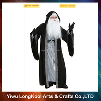 Wholesale halloween masquerade adult wizard cosplay costume