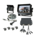 24V Input 7 Inch Video Backup Camera Truck Car Parking Sensor System