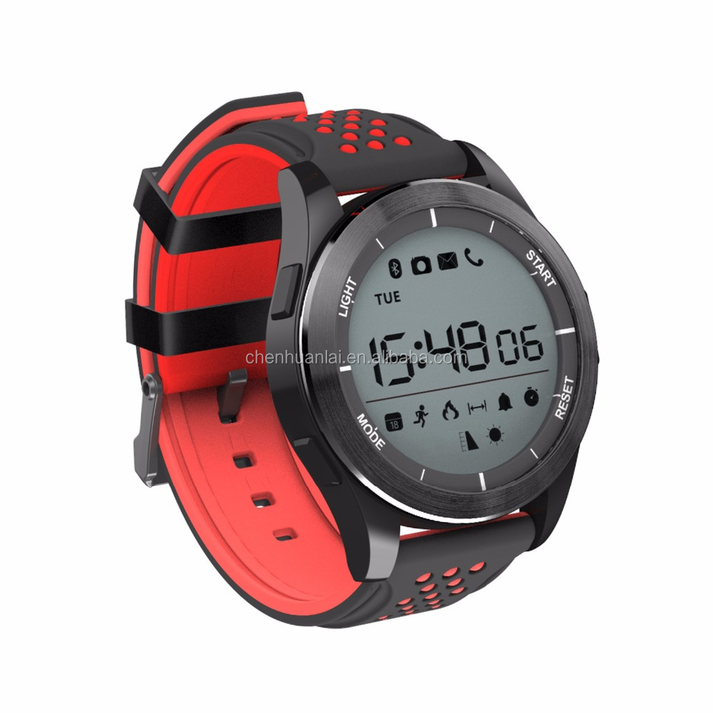 IP68 Waterproof BLE Digital Sports Watch with UV Altimeter Barograph