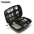 Fashion Cable Organizer Bag Digital Storage Bag Electronics Accessories Case with Disk SD Card Slots / Phone Connector Plug Bag