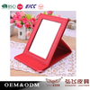 Fashion useful Square Stand Leather Mirror for promotional