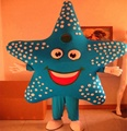 Blue starfish mascot costume for adult