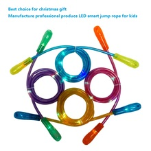 Manufacture professional produce LED Jump Rope Rubber skipping jump rope for kids Toys