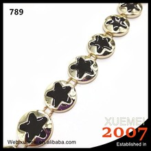 plastic round star shape coated cup chain garment accessory decoration