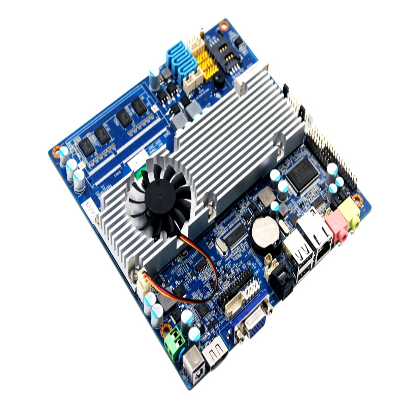 intel notebook industrial cpu motherboard TOP45 based 12v dc power/LVDS/LPT/VGA mini itx motherboard for Pos Termianl