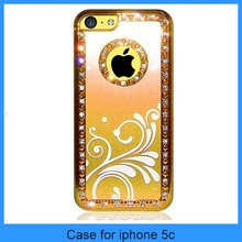 For iPhone 5c Aluminum Case Aluminum Chrome Hard cover metal case for iphone 5c(PT-I5C220)