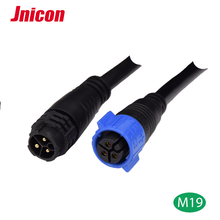 Black IP65/Ip67 2 3 4 5 6 7 8 pin electric plug LED waterproof cable male female connectors