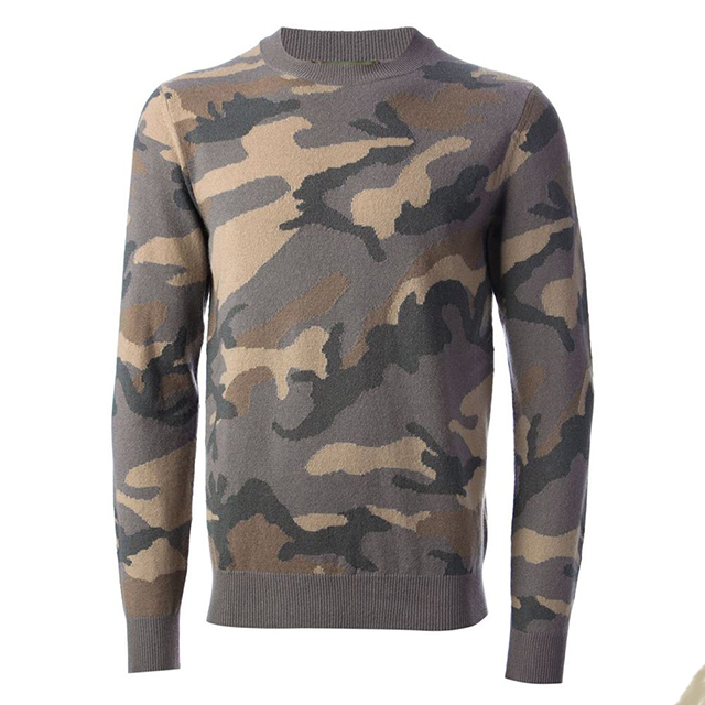 Wholesale High Quality Merino Wool Camouflage Knitting Yarn Pullover