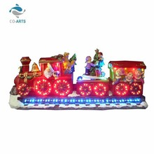 Romantic design holiday decoration resin train gift items low cost