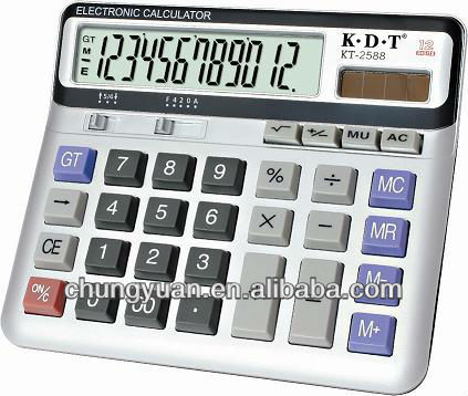 12 digits talking calculator KT-2588