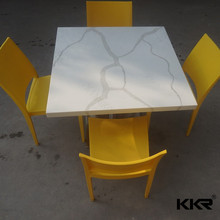Faux Stone white carrera marble table top