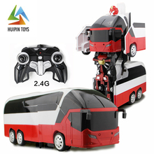 large bus deformable robot children MZ 2372P walk high speed rc car with light